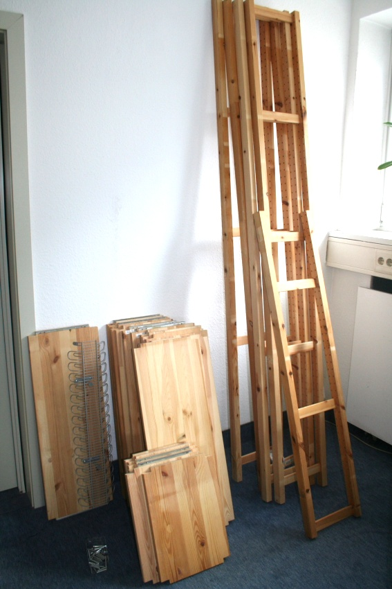 ivar ikea steckregal seitenteile regalb den regal kiefer massivholz 25 teilig ebay. Black Bedroom Furniture Sets. Home Design Ideas