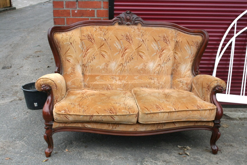 sofa couch biedermeier 2 sitzer antik barock polstersofa ebay. Black Bedroom Furniture Sets. Home Design Ideas