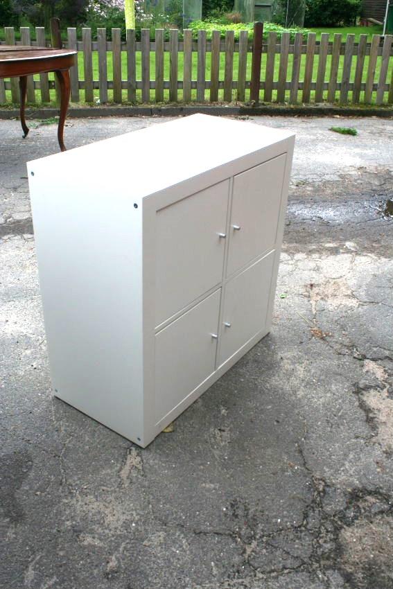 ikea kallax regal wei 77x77 cm raumteiler b cherregal mit. Black Bedroom Furniture Sets. Home Design Ideas